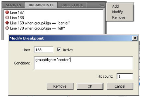 Modify Breakpoints