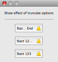 Show effect of truncate options